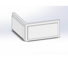 Боссаж (рустовый камень) БС-013 500х250х50 мм угловой (1шт)