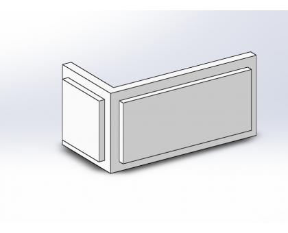 Боссаж (рустовый камень) БС-014 500х250х50 мм угловой 2 (1шт)