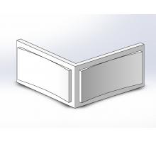 Боссаж (рустовый камень) БС-016 500х250х50 мм угловой (1шт)