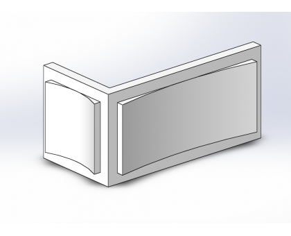Боссаж (рустовый камень) БС-017 500х250х50 мм угловой 2 (1шт)
