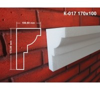 Карниз К-017 170х100 мм